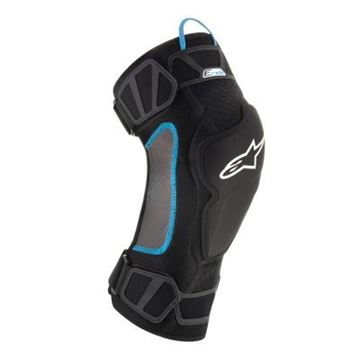 Picture of ALPINE E-RIDE KNEE PROTECTION S/M BLACK CYAN