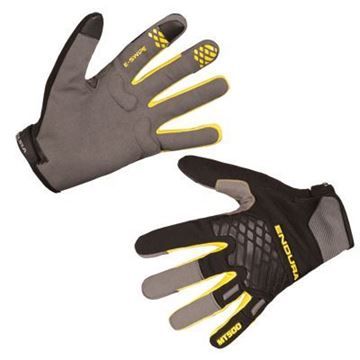 Picture of ENDURA MT500 GLOVE BLACK/YELLOW