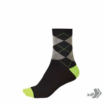 Picture of ENDURA ARGYLL SOCK (TWIN PACK)