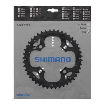 Picture of SHIMANO DEORE FCM530 44T OUTER BLACK 4 ARM CHAINRING