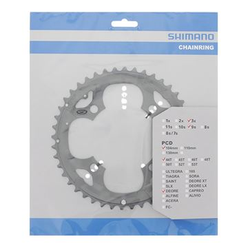 Picture of SHIMANO DEORE FCM590 44T OUTER GREY 4 ARM CHAINRING