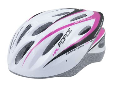 Picture of FORCE HAL HELMET WHITE PINK