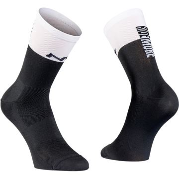 Picture of NORTHWAVE - WORK LESS RIDE MORE SOCK BLACK/WHITE